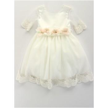 Textil Dívčí Krátké šaty Bella Brilli BB402157 Béžová
