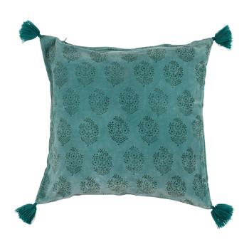 Bydlení Povlaky na polštáře Sema BAYLEEN Modrá / Smaragdově zelená