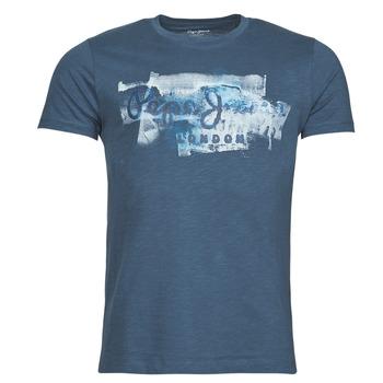 Textil Muži Trička s krátkým rukávem Pepe jeans GOLDERS Modrá