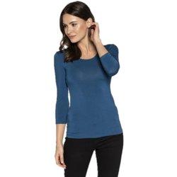 Textil Ženy Trička s dlouhými rukávy Babell Dámské tričko Manati indygo
