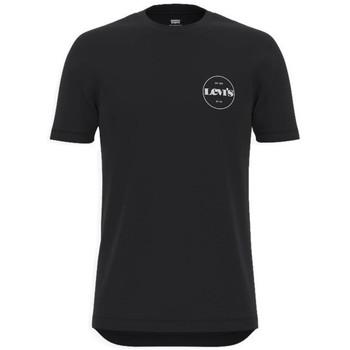 Textil Muži Trička s krátkým rukávem Levi's Perf Graphic Tee Černé