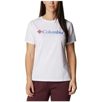 Textil Ženy Trička s krátkým rukávem Columbia Sun Trek W Graphic Tee Bílé