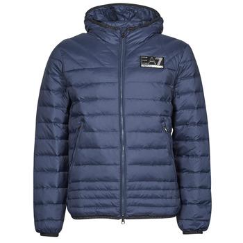Textil Muži Prošívané bundy Emporio Armani EA7 MOUNTAIN M DOWN Modrá