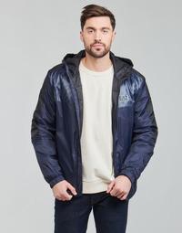 Textil Muži Bundy Emporio Armani EA7 TRAIN LOGO SERIES Tmavě modrá