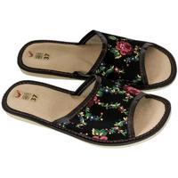 Boty Ženy Papuče John-C Dámske čierne papuče ALMA čierna