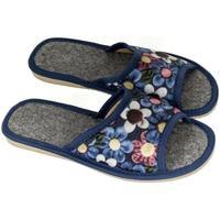 Boty Ženy Papuče John-C Dámske tmavo-modré papuče ALLA tmavomodrá