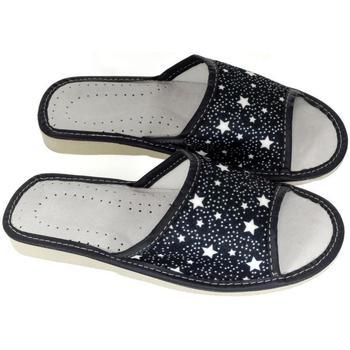 Boty Ženy Papuče John-C Dámske tmavo-modré papuče STAR tmavomodrá