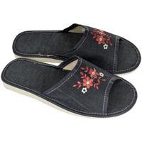Boty Ženy Papuče John-C Dámske tmavo-modré papuče ELA tmavomodrá