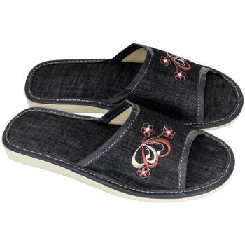 Boty Ženy Papuče John-C Dámske tmavo-modré papuče ELLA tmavomodrá