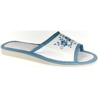 Boty Ženy Papuče John-C Dámske bielo-modré papuče MALVINA modrá