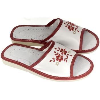 Boty Ženy Papuče John-C Dámske bielo-červené papuče MALVINA červená