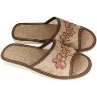 Boty Ženy Papuče John-C Dámske svetlo-hnedé papuče RIVKA ťavia