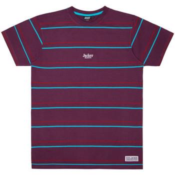 Textil Muži Trička s krátkým rukávem Jacker Rtk stripes Fialová