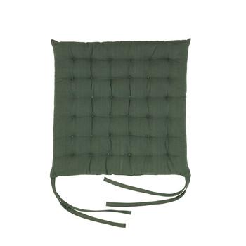 Bydlení Polštář na židli Broste Copenhagen AVA Smaragdově zelená
