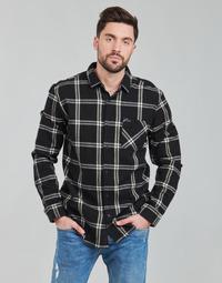 Textil Muži Košile s dlouhymi rukávy Rip Curl CHECKED OUT L/S FLANNEL Černá