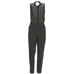 Textil Ženy Overaly / Kalhoty s laclem BCBGeneration EGLANTINE Černá