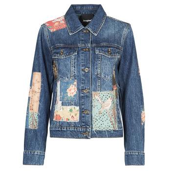 Textil Ženy Riflové bundy Desigual JAPO PATCH Modrá
