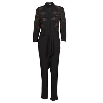 Textil Ženy Overaly / Kalhoty s laclem Desigual NIAGARA Černá