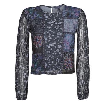 Textil Ženy Trička s dlouhými rukávy Desigual BELLADONA Tmavě modrá