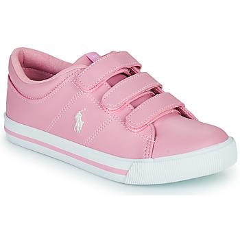 Boty Dívčí Nízké tenisky Polo Ralph Lauren ELMWOOD EZ Růžová