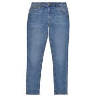 Textil Dívčí Rifle skinny Pepe jeans PIXLETTE HIGH Modrá