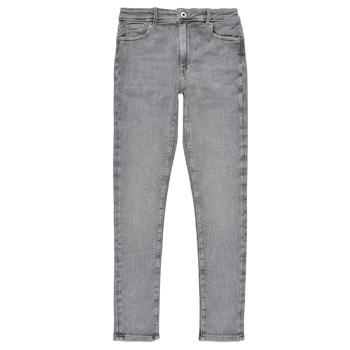 Textil Dívčí Rifle skinny Pepe jeans PIXLETTE HIGH Šedá