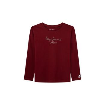 Textil Dívčí Trička s dlouhými rukávy Pepe jeans NURIA LS Červená