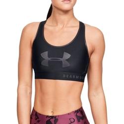 Textil Ženy Sportovní podprsenky Under Armour Mid Keyhole Graphic Bra Černá
