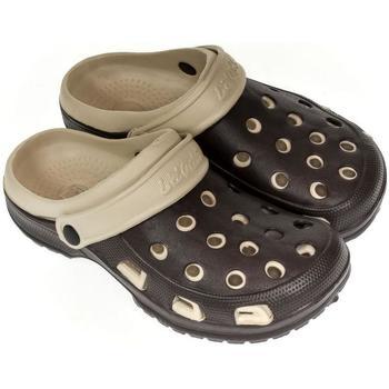 John-C Pantofle Pánske hnedo-béžové crocsy BLAKE - Hnědá