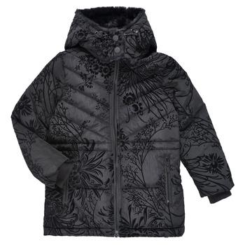 Textil Dívčí Prošívané bundy Desigual MOSELLE Černá