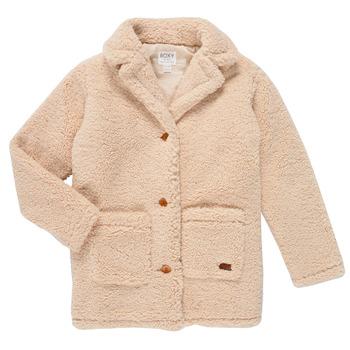 Textil Dívčí Kabáty Roxy RUNAWAY BABY Bílá