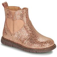 Boty Dívčí Kotníkové boty Bisgaard MELODY Růžová / Zlatá