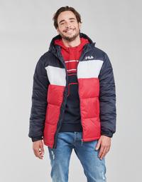 Textil Muži Prošívané bundy Fila SCOOTER PUFFER JACKET Červená / Tmavě modrá / Bílá