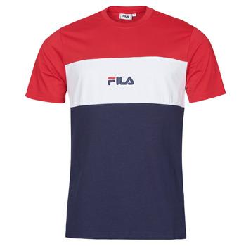 Textil Muži Trička s krátkým rukávem Fila ANOKI Červená / Tmavě modrá / Bílá
