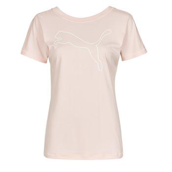 Textil Ženy Trička s krátkým rukávem Puma TRAIN FAVORITE JERSEY CAT TEE Růžová