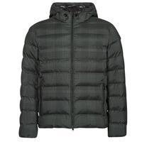 Textil Muži Prošívané bundy Geox SANDFORD Černá / Khaki