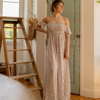 Textil Ženy Společenské šaty Céleste PATCHOULI Krémově bílá / Černá