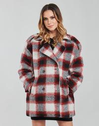 Textil Ženy Kabáty Kaporal FEO Béžová / Červená