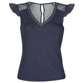 Textil Ženy Trička s krátkým rukávem Morgan DUCHES Tmavě modrá