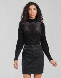 Textil Ženy Trička s dlouhými rukávy Morgan TISPI Černá