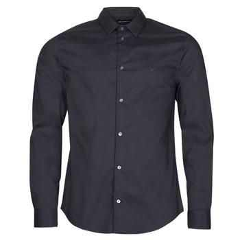 Textil Muži Košile s dlouhymi rukávy Emporio Armani 8N1C09 Tmavě modrá
