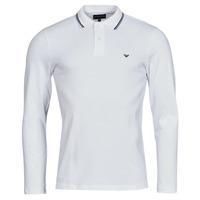 Textil Muži Polo s dlouhými rukávy Emporio Armani 8N1FB5 Bílá