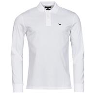 Textil Muži Polo s dlouhými rukávy Emporio Armani 8N1FQ0 Bílá