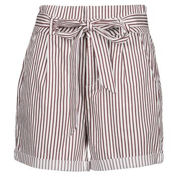 Textil Ženy Kraťasy / Bermudy Vero Moda VMEVA Bílá / Hnědá