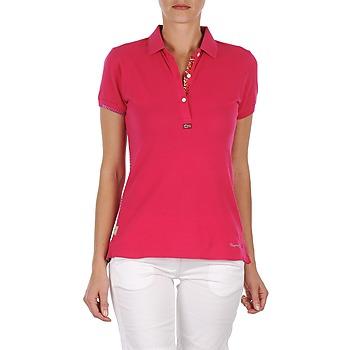 Textil Ženy Polo s krátkými rukávy Napapijri ELINDA Růžová
