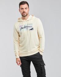 Textil Muži Mikiny Jack & Jones JORLOGON Béžová