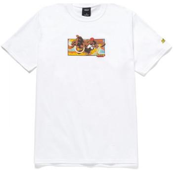 Textil Muži Trička s krátkým rukávem Huf T-shirt dhalsim ss Bílá
