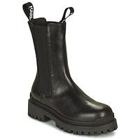 Boty Ženy Kotníkové boty Karl Lagerfeld BIKER II LONG GORE BOOT Černá