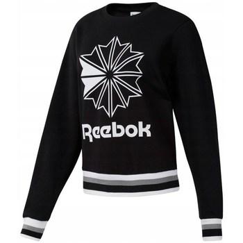 Textil Ženy Mikiny Reebok Sport CL FT Big Logo Crew Bílé, Černé
