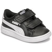Boty Děti Nízké tenisky Puma SMASH INF Černá / Bílá